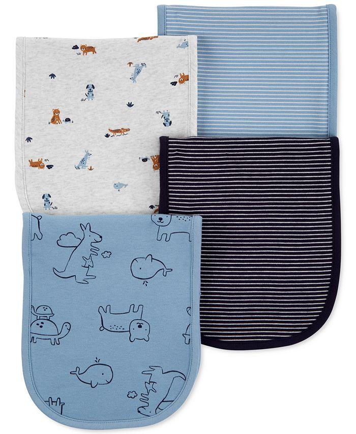 Carter's - Baby Boys 4-Pk. Animal Burp Cloths