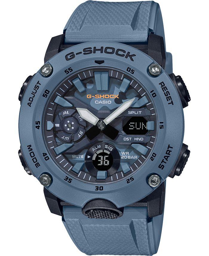 G-Shock - Men's Analog-Digital Blue Resin Strap Watch 48.7mm