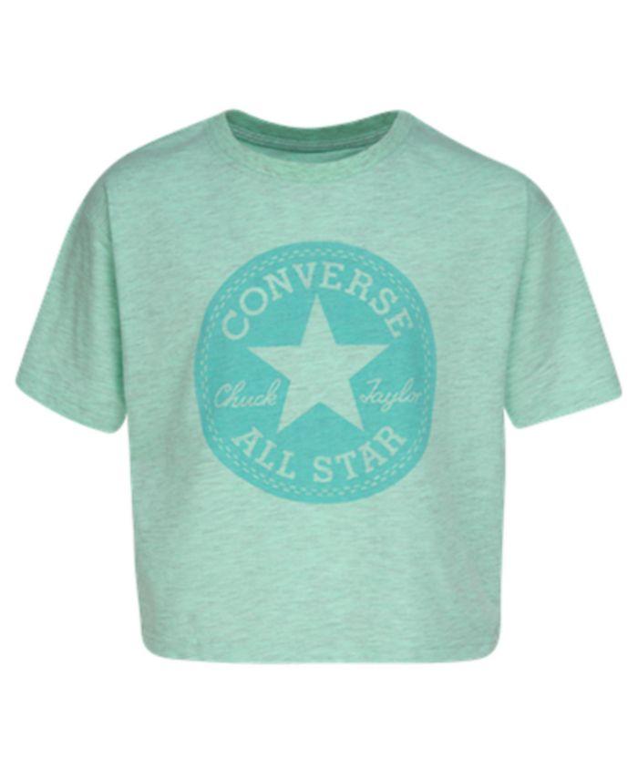 Converse - Big Girls Boxy-Fit Patch Logo Graphic T-Shirt