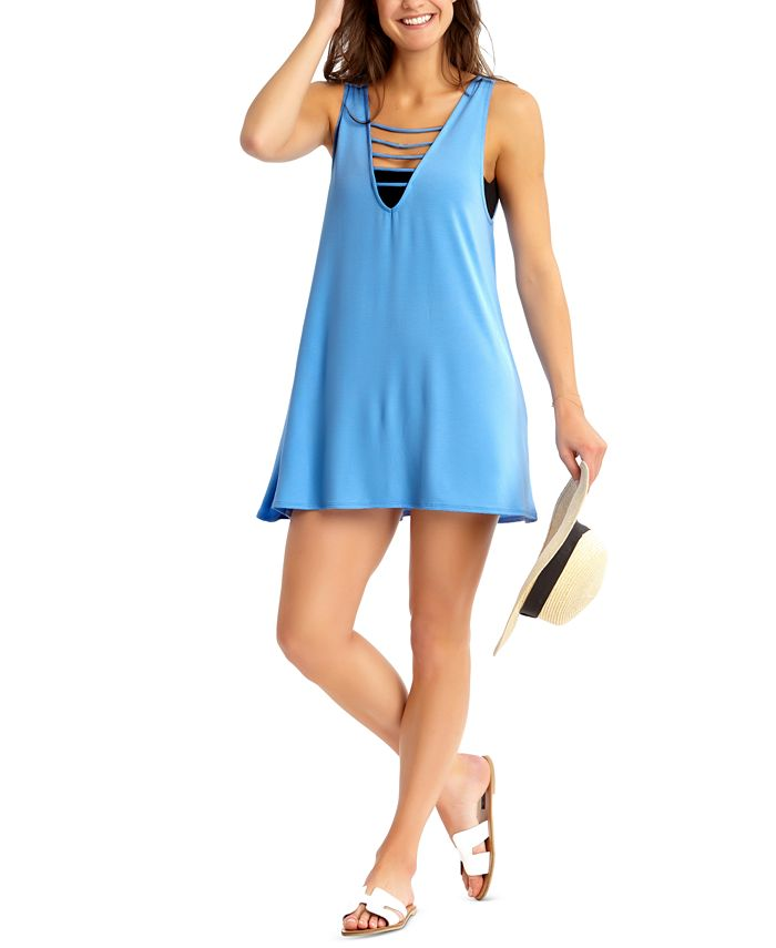 California Waves - Juniors' Strappy Cover-Up Dress