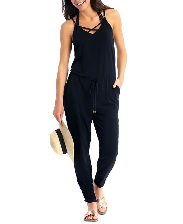 California Waves Juniors' Jumpsuit Cover-Up, Created for Macy's