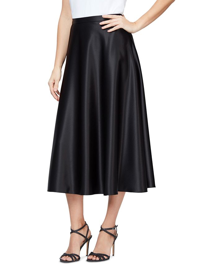 Alex Evenings - Satin Midi Skirt