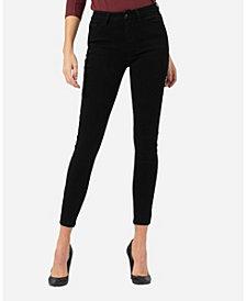VERVET Mid Rise Super Soft Black Skinny Ankle Jeans