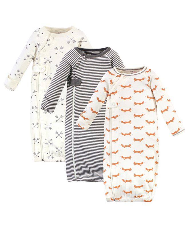 Touched by Nature Baby Boys and Girls Zipper Gowns