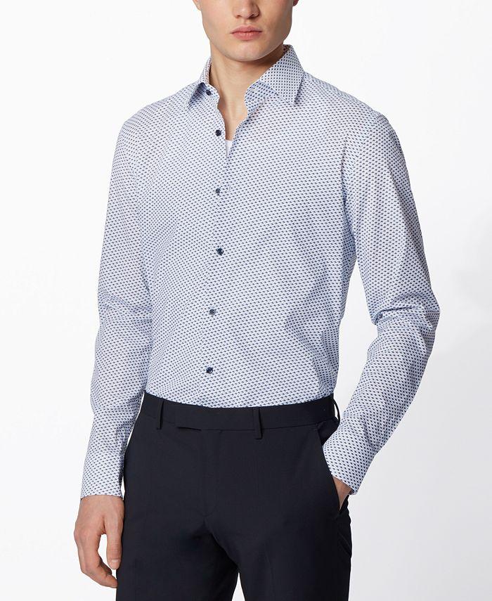 Hugo Boss - Men's Jango Open White Shirt