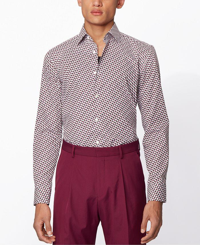 Hugo Boss - Men's Jango Medium Purple Shirt
