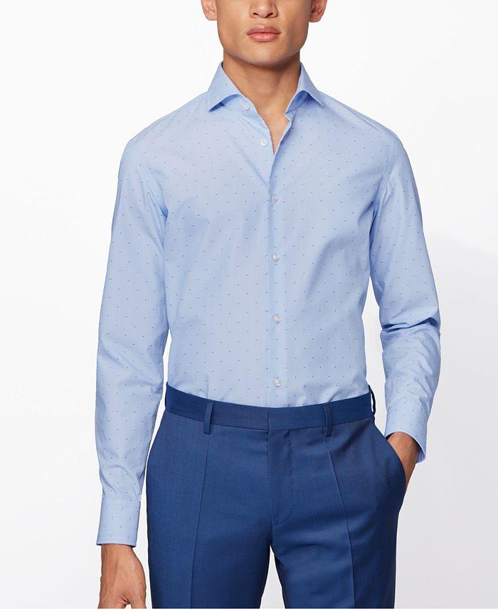 Hugo Boss - Men's Jason Bright Blue Shirt