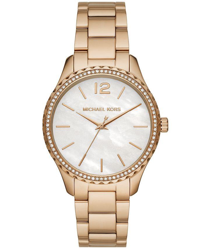Michael Kors - Layton Three-Hand Gold-Tone Stainless Steel Watch