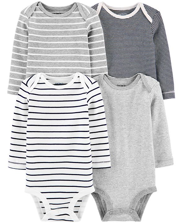 Carter's Baby Boys 4-Pk. Striped Cotton Bodysuits