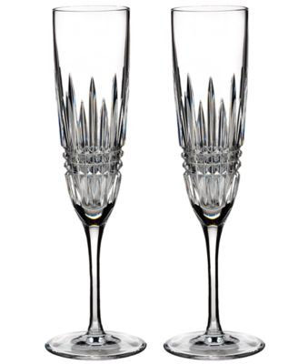 Waterford Stemware, Set of 2 Lismore Diamond Flutes