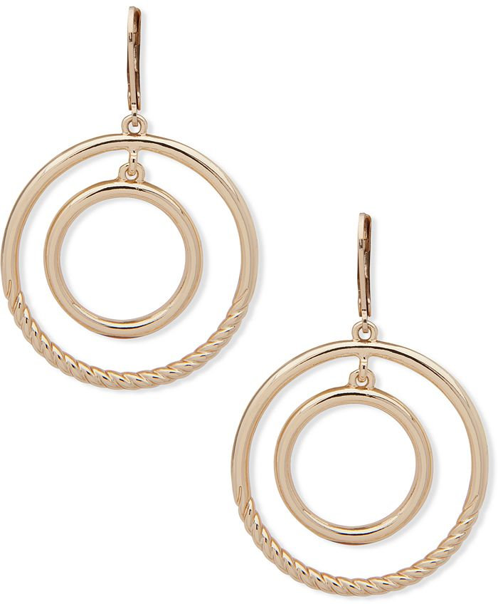 Anne Klein - Gold-Tone Orbital Drop Earrings