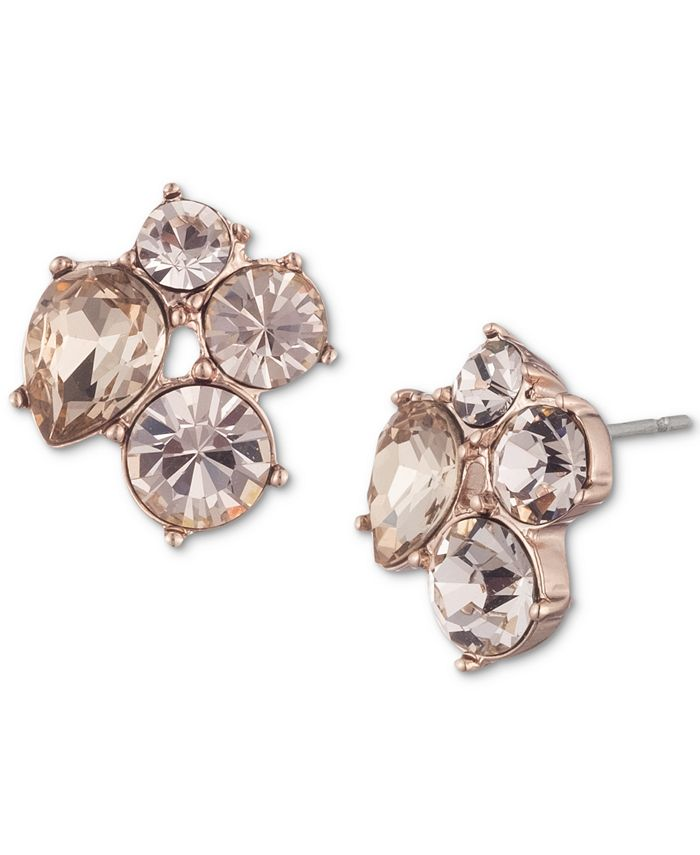 Givenchy - Crystal Cluster Button Earrings