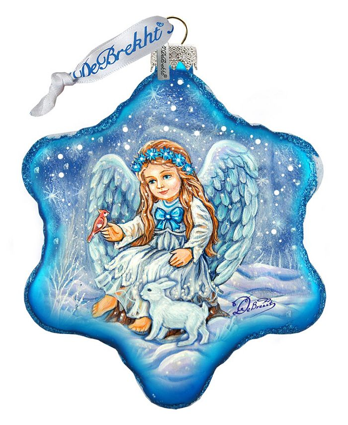 G Debrekht Baby Angel With Bunny Holiday Splendor Glass Ornament Reviews Shop All Holiday Home Macy S