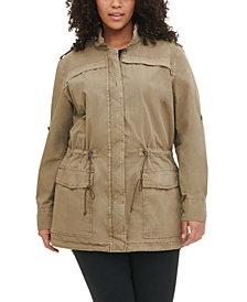 Levi's® Trendy Plus Size Lightweight Cotton Fishtail Parka