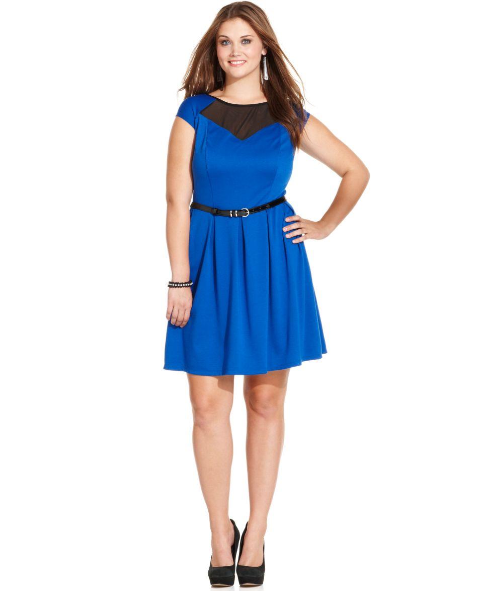 American Rag Plus Size Short Sleeve Floral Print A Line Dress   Dresses   Plus Sizes