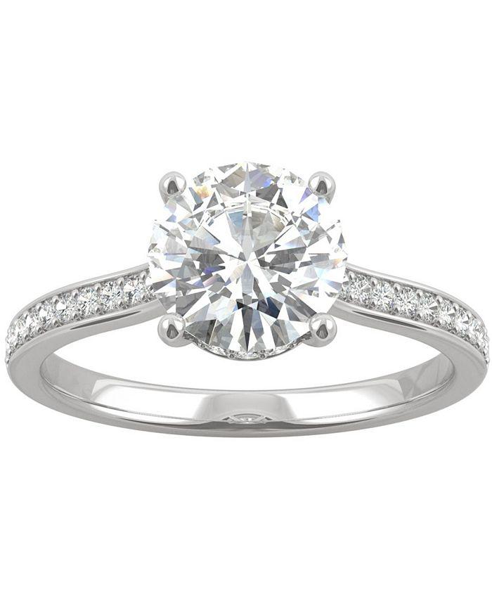 Charles & Colvard - Moissanite Engagement Ring (1-3/4 ct. t.w. DEW) in 14k White Gold