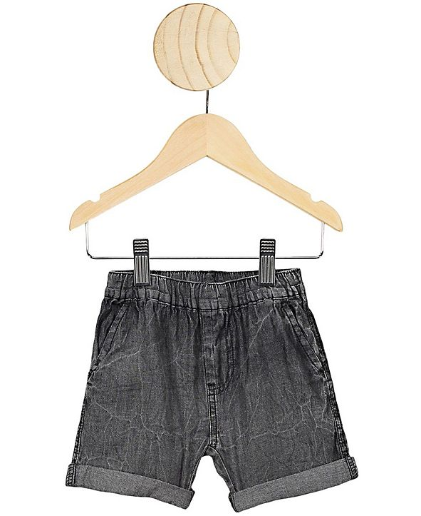 COTTON ON Baby Boys and Girls Domenic Denim Wash Short