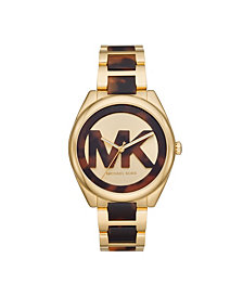 Michael Kors Women's Janelle Three-Hand Two-Tone Stainless Steel Bracelet Watch 42mm MK7136
