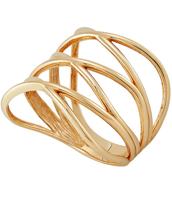 Macy's - Multi-Row Crossover Statement Ring in 10k Gold