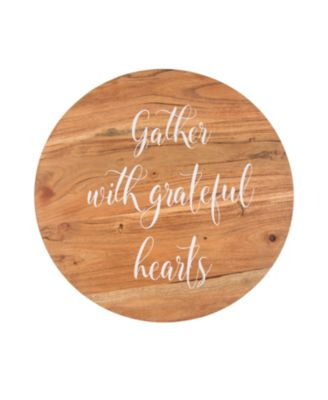 """16"""" Lazy Susan - """"Gather with Grateful Hearts"""""""