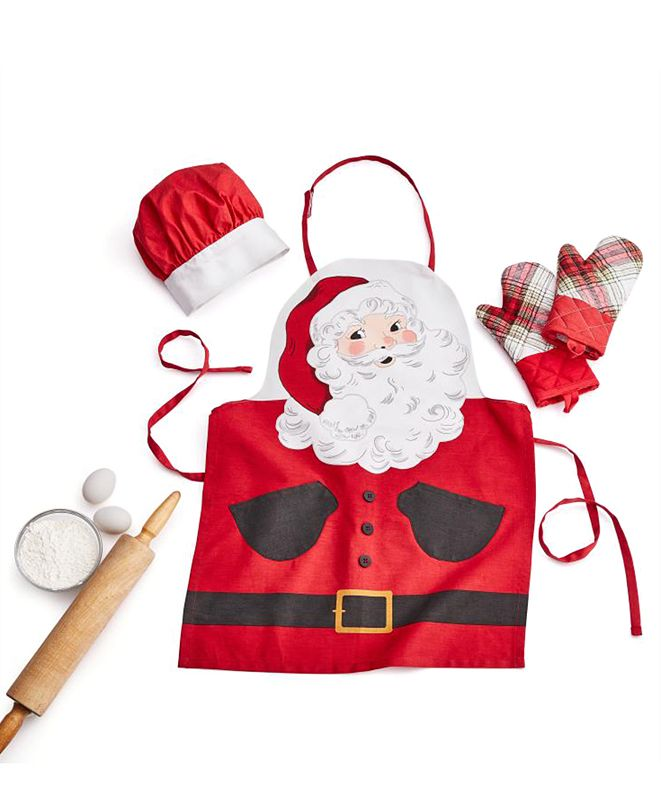 Martha Stewart Collection Kids 4-Pc. Santa Apron Set, Created for Macy's