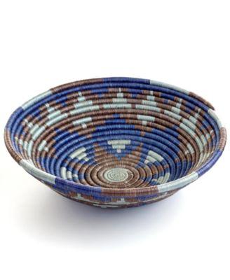 Rwanda Basket, Blue & Gray