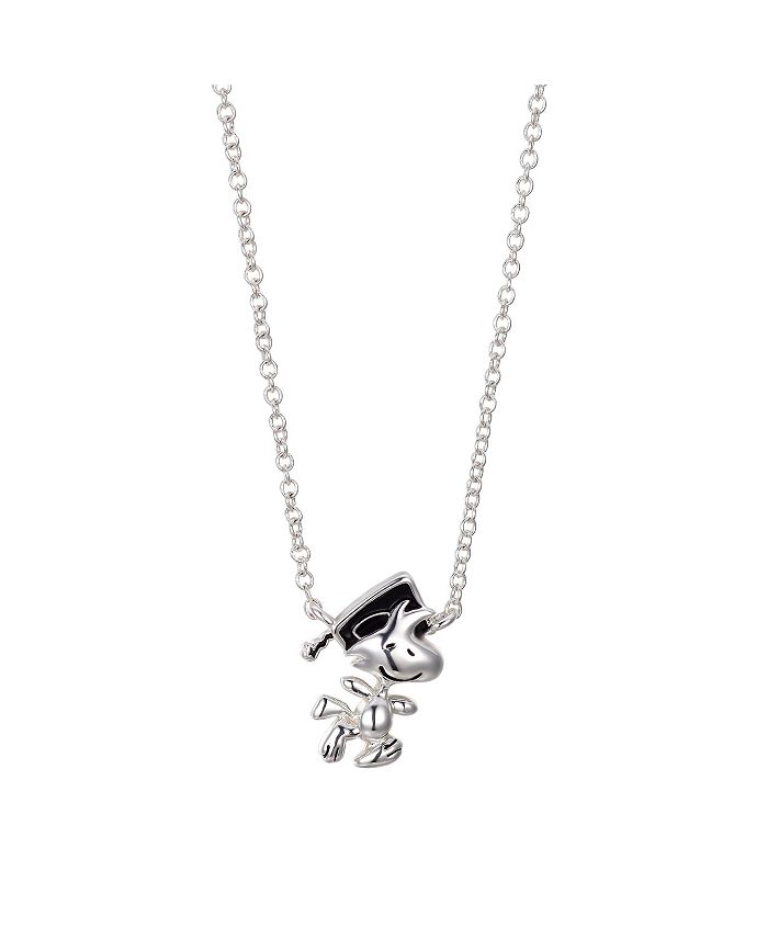 """Peanuts - Fine Silver Plated  """"Woodstock"""" Graduation Pendant Necklace, 16""""+2"""" for"""