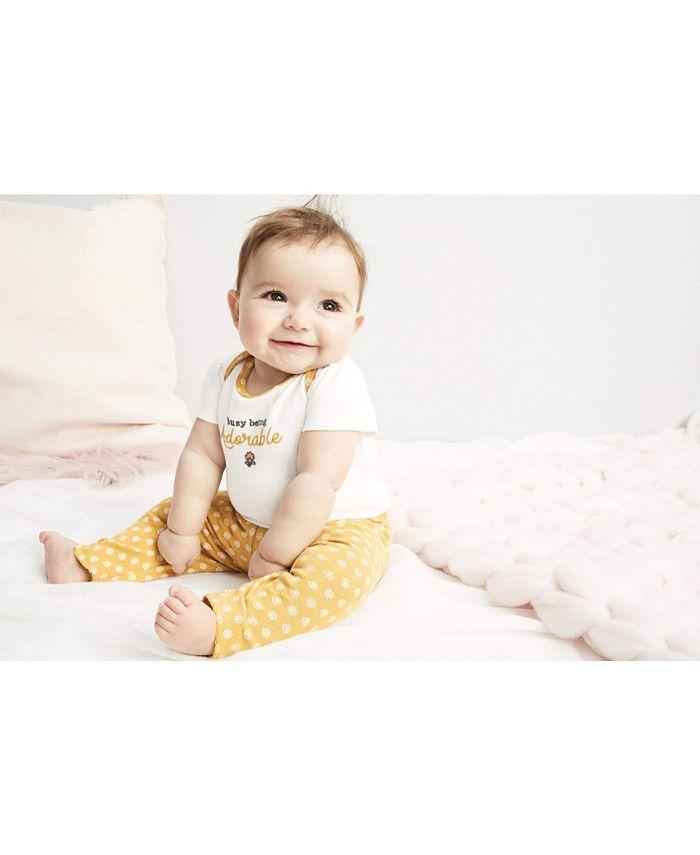 Carter's - Baby Girls 3-Pc. Elephants Cotton Bodysuits & Pants Set