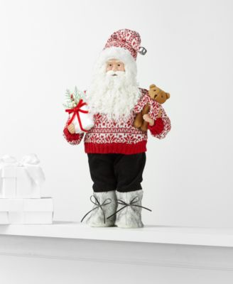 Standing Santa with Bear and Gift, Created for Macy's