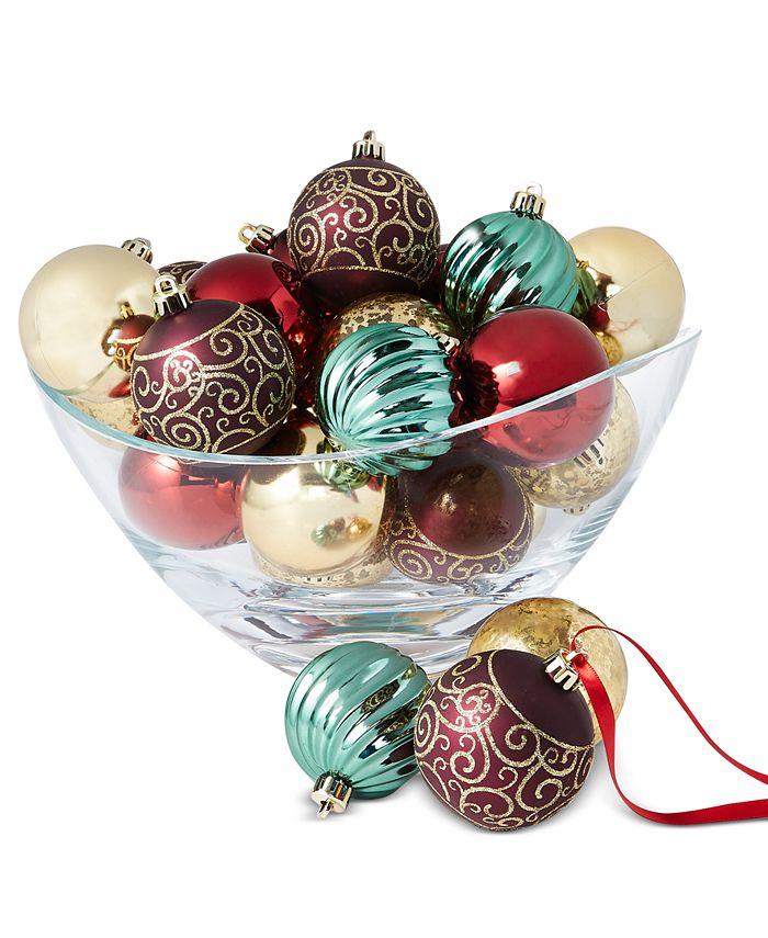 Holiday Lane - Evergreen Dreams Shatterproof Ornaments, Set of 30