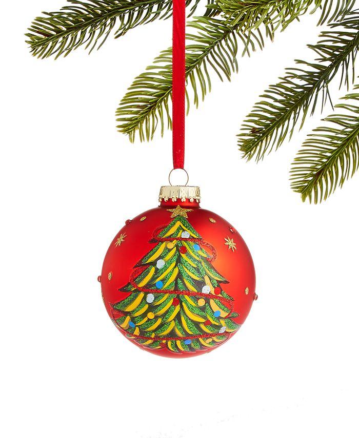Holiday Lane - Santa's Favorites 2019 Red Ball Ornament