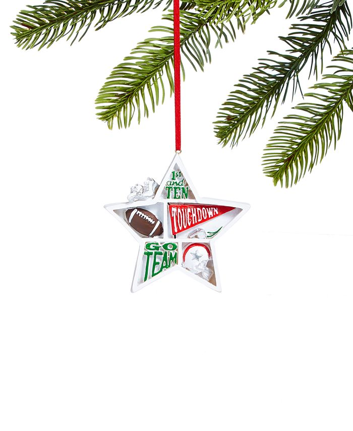 Holiday Lane - Sports Star Shaped Football Ornament
