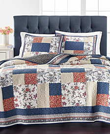 Mind Your Manor Floral Patchwork Quilt and Sham Collection