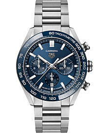 TAG Heuer Men's Swiss Automatic Chonograph Carrera Heuer 02 Stainless Steel Bracelet Watch 44mm