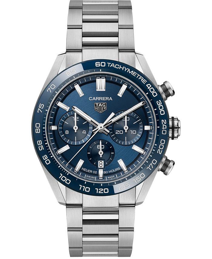 TAG Heuer - Men's Swiss Automatic Chonograph Carrera Heuer 02 Stainless Steel Bracelet Watch 44mm