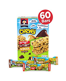 Quaker Chewy Granola Bar Chocolate Chip Peanut Butter Chocolate Chip Variety Pack 60 Count