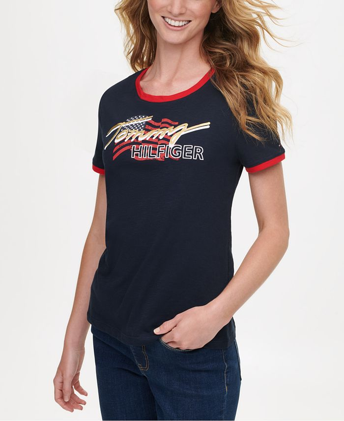 Tommy Hilfiger - Cotton Short-Sleeve Graphic Logo T-Shirt