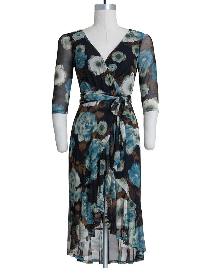 Connected - Plus Size Floral-Print Maxi Dress