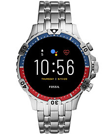 Fossil Men's Gen 5 HR Stainless Steel Bracelet Touchscreen Smart Watch 46mm