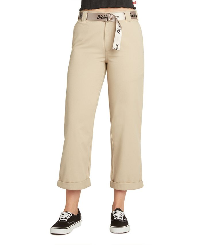 Dickies - Belted Cropped High-Rise Pants