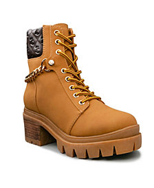 Women's Question Quilted Chain Boot