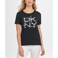 DKNY Glitter Logo T-Shirt Womens Deals