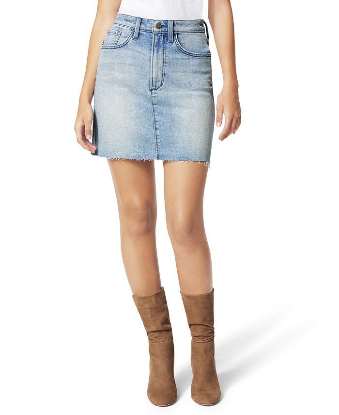 Joe's Jeans - HR Cut-Hem Denim Mini Skirt