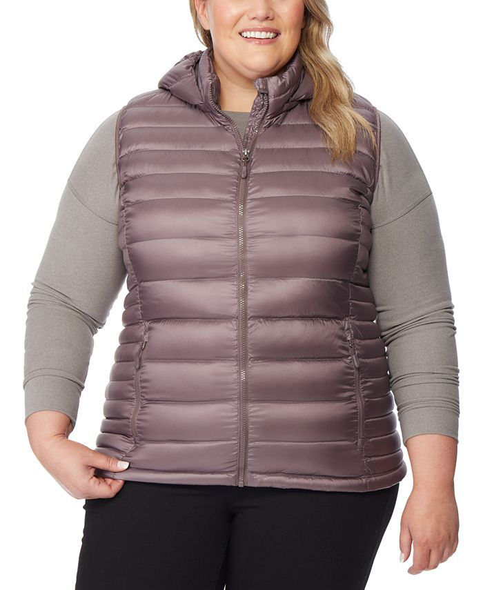 32 Degrees - Plus Size Hooded Packable Puffer Vest