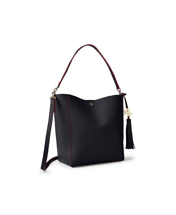 Lauren Ralph Lauren Medium Leather Snap Adley Shoulder Bag