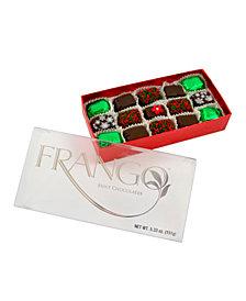 Frango Chocolates Holiday Deco Dark Mint 15 Piece Box of Chocolates