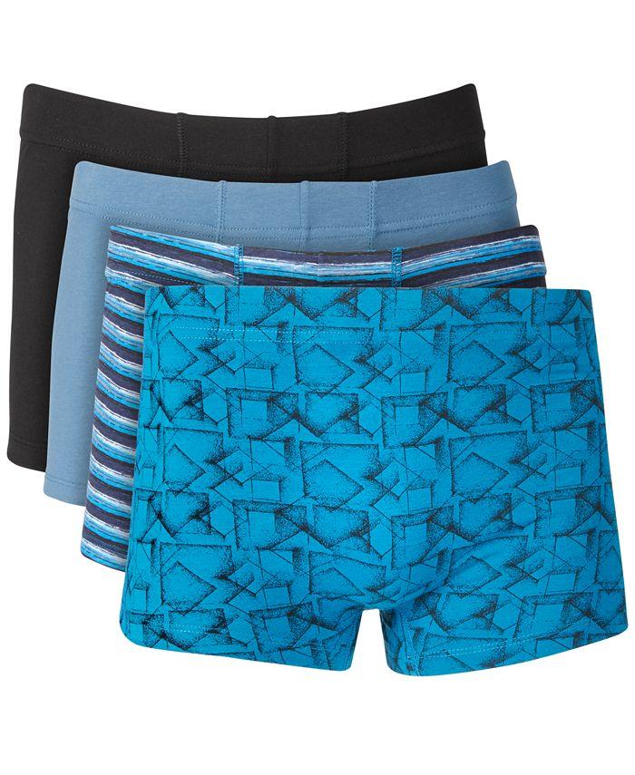 Alfani Men S 4 Pack Boxer Briefs Created For Macy S Reviews Underwear Socks Men Macy S