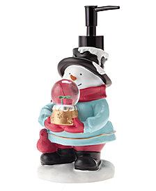 Décor Studio Snowman with Snow Globe Holiday Lotion Pump