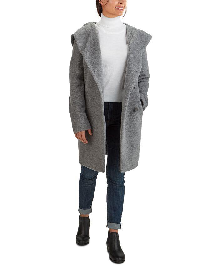 Cole Haan - Hooded Asymmetrical Coat