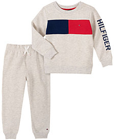 Tommy Hilfiger Baby Boys Flag Stripe Top Pant Set